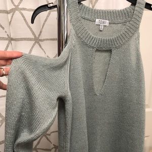 TOBI cold shoulder sweater dress
